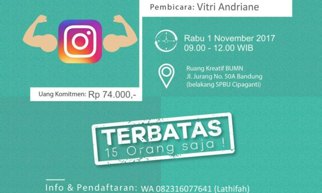 RABU WORKSHOP – 1 Nov 2017 Jago Jualan di Instagram
