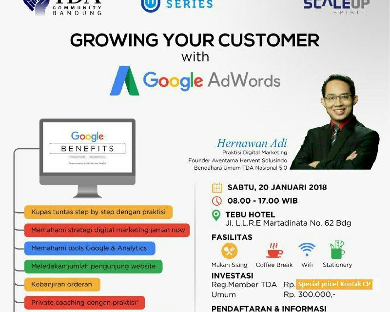 GROWING YOUR CUSTOMER WITH GOOGLE ADWORDS